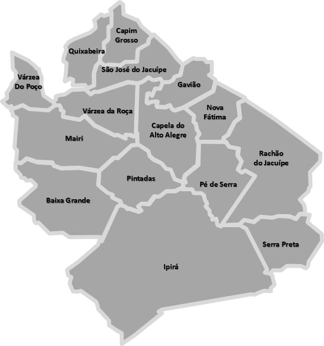 Mapa Bacia do Jacuípe