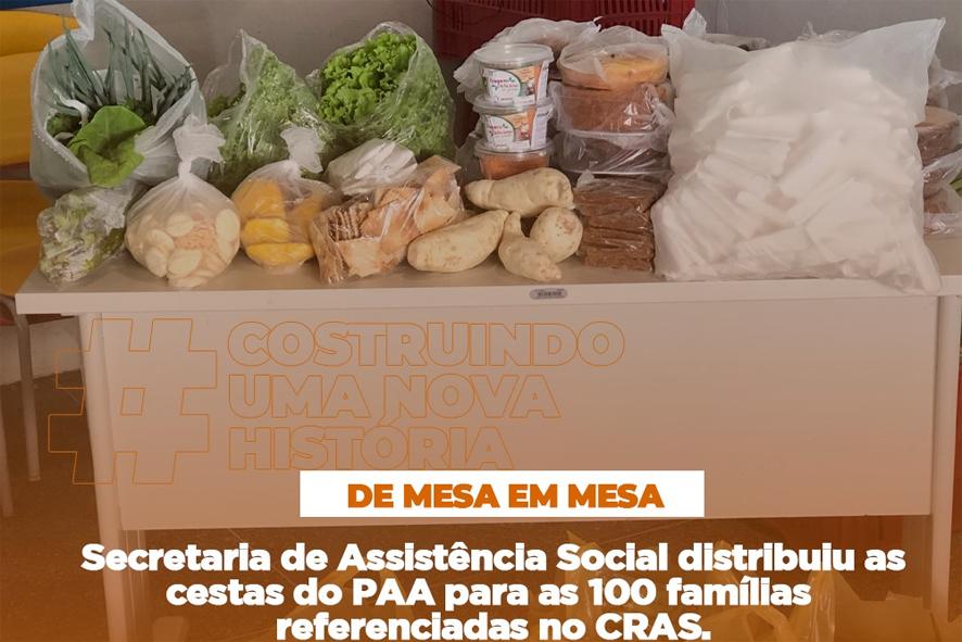 Prefeitura de Pé de Serra distribuiu cestas básicas do PAA para 100 famílias carentes