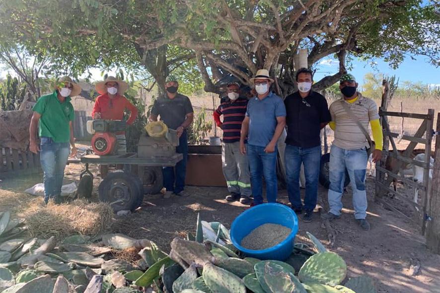 Em Parceria com o SENAR prefeitura de Nova Fátima promove Curso de Produção de Farelo de Palma