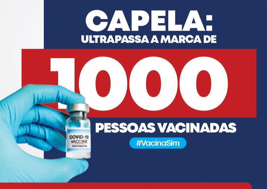 Capela do Alto Alegre ultrapassamos a marca de 1000 pessoas vacinadas