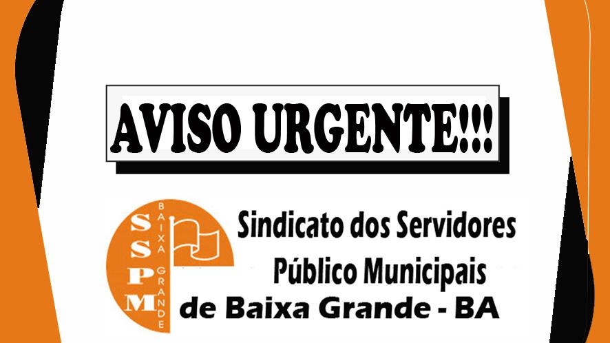 Atenção, Associado do SSPM de Baixa Grande, Aviso Urgente!!!
