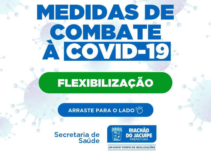 Prefeitura de Riachão do Jacuípe flexibiliza as medidas de combate à Covid-19 por conta da diminuição de casos nos últimos dias