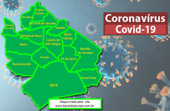 40 novos casos e 42 curas para a Covid-19 foram registrados pelas Prefeituras da Bacia do Jacuípe na terça-feira, 05 de outubro de 2021