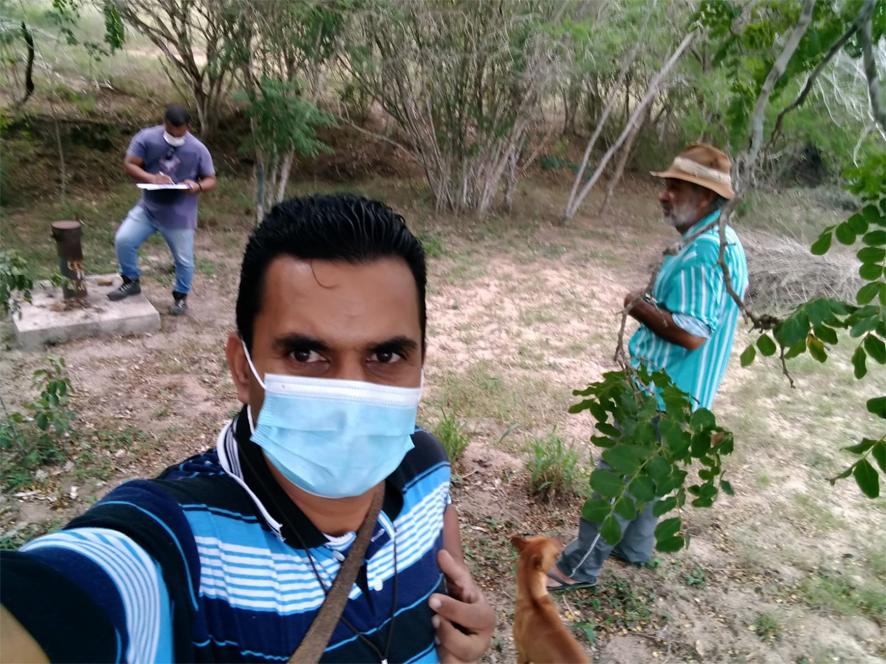 Vereador Beto acompanha técnico da CERB em Visitas à zona rural de Capela do Alto Alegre