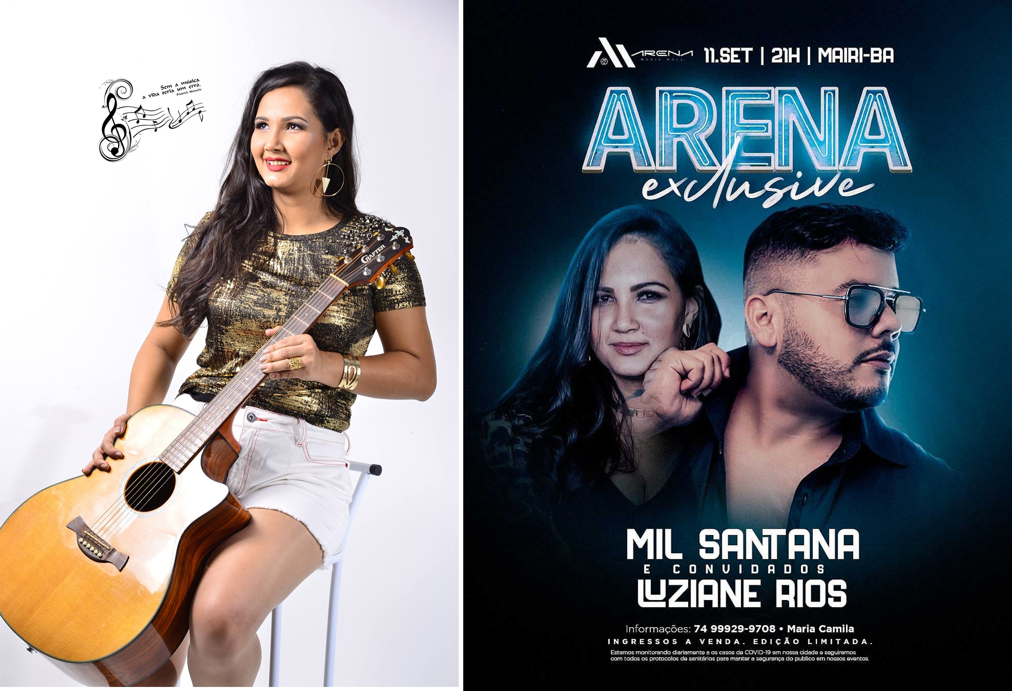De volta aos palcos, Luziane Rios anuncia participação em show de Mil Santana