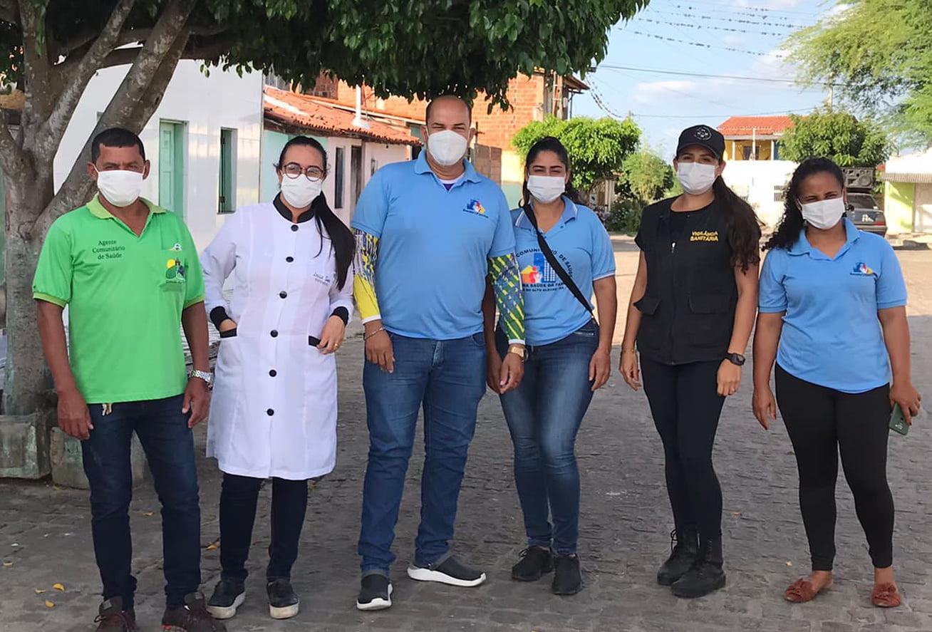O combate à pandemia continua em Capela do Alto Alegre