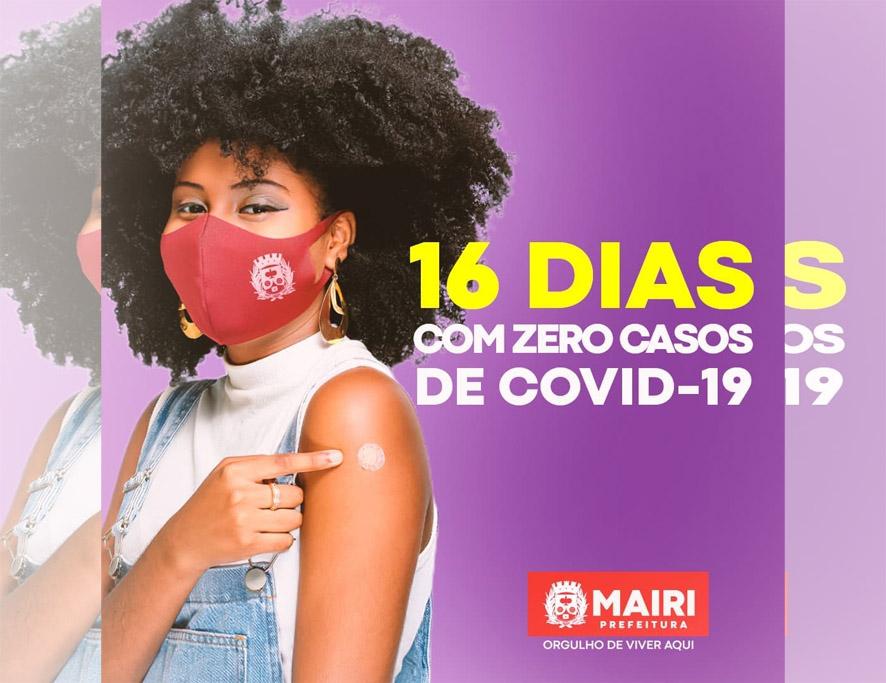 Mairi há 16 dias com casos zerados de Covid-19