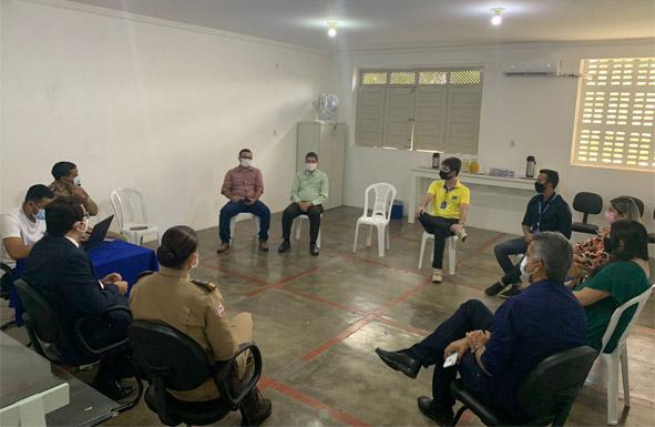 Reunião discute monitoramento eletrônico na cidade de Riachão do Jacuípe