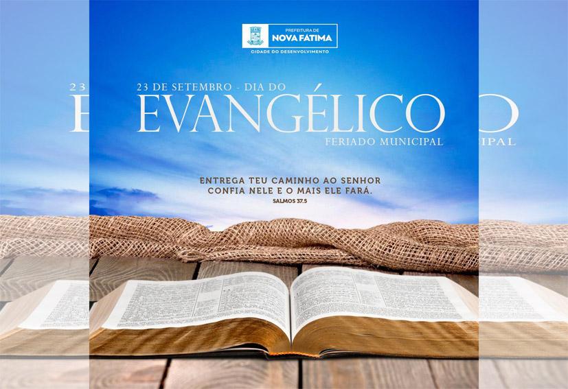 Nova Fátima celebra hoje o Dia Municipal do Evangélico