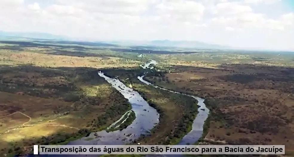 Lançada a licitação para projeto de transposição das águas do Rio São Francisco para a Bacia do Jacuípe