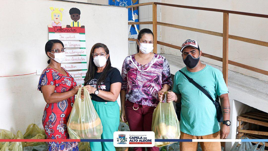 Prefeitura de Capela do Alto Alegre entrega das cestas do Programa de Aquisição de Alimentos – PAA