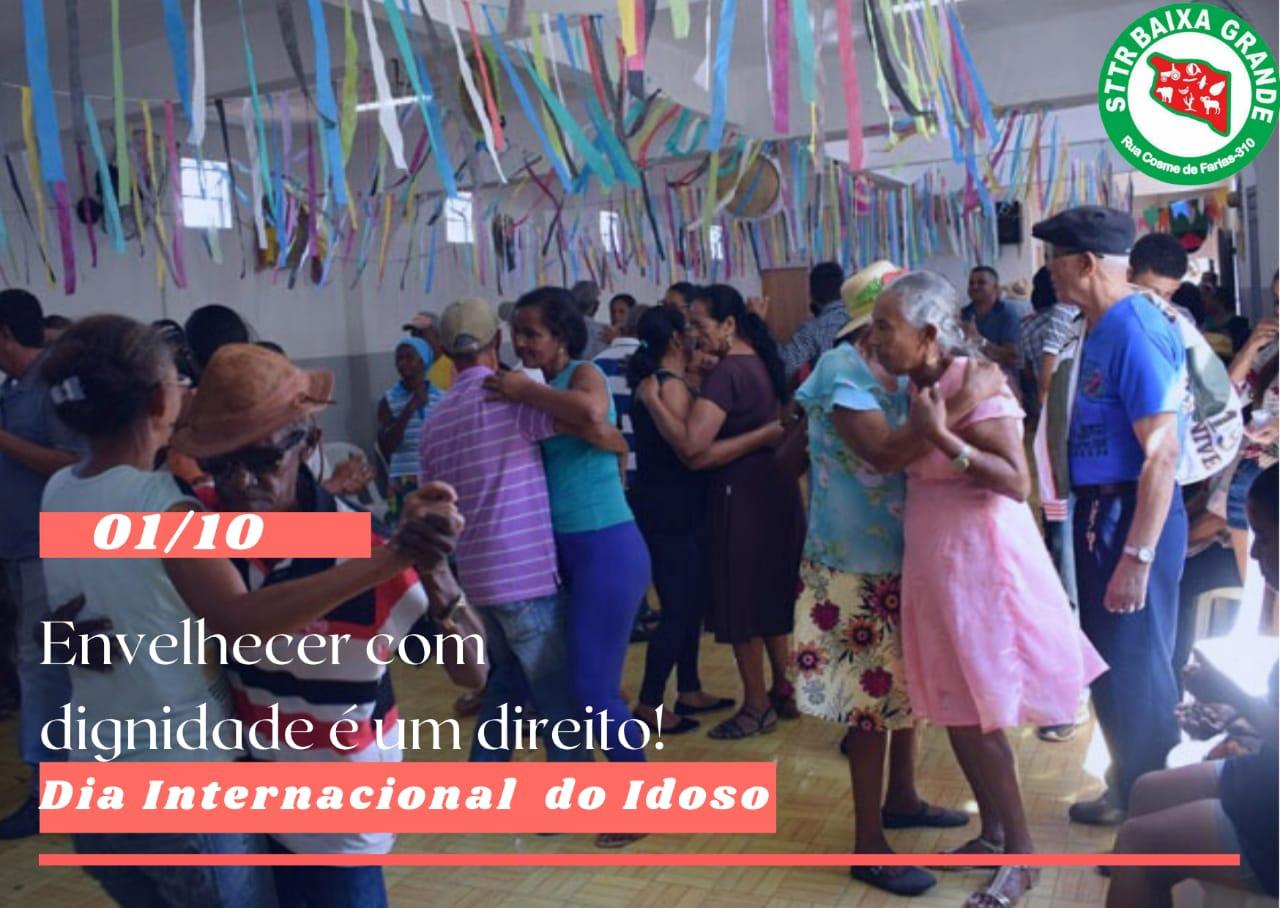 Mensagem dos STTR Baixa Grande ao Dia do Idoso