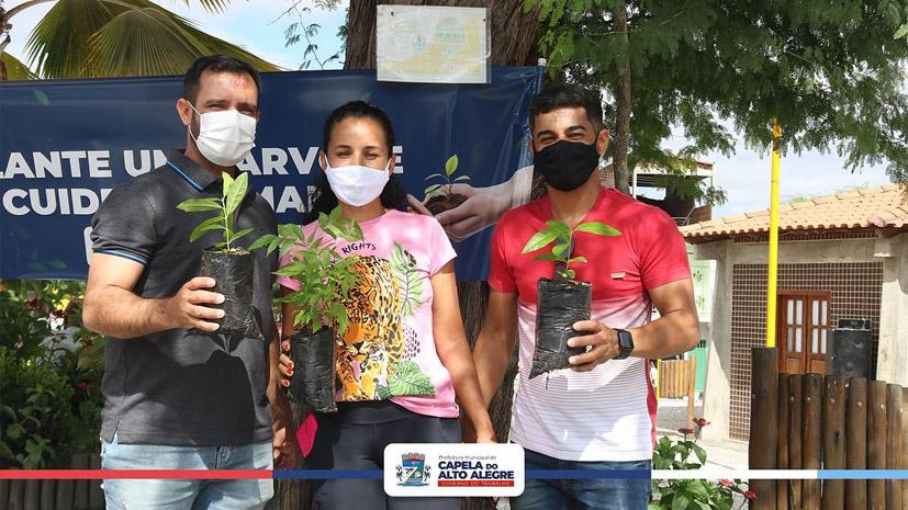Capela do Alto Alegre mais verde, Secretaria de Meio Ambiente promove doação de mudas da empresa Agrovale
