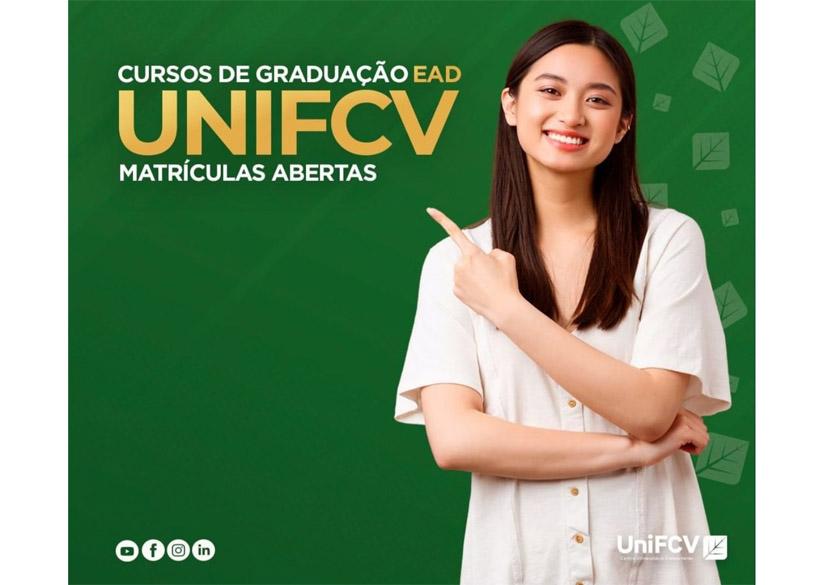 Novos Cursos de Graduação EAD UNIFCV, matrículas abertas