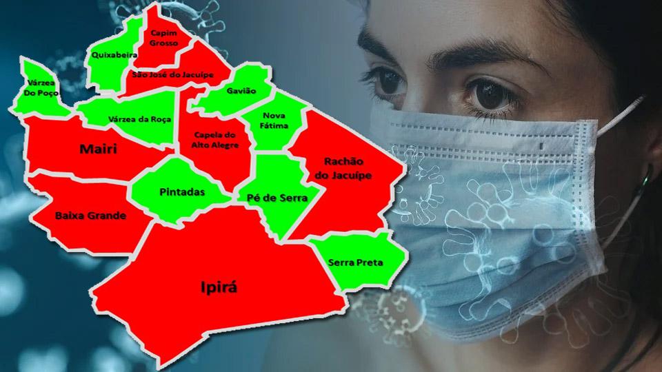 Em 8 dos 15 municípios da Bacia do Jacuípe estão zerados os casos ativos para a covid-19